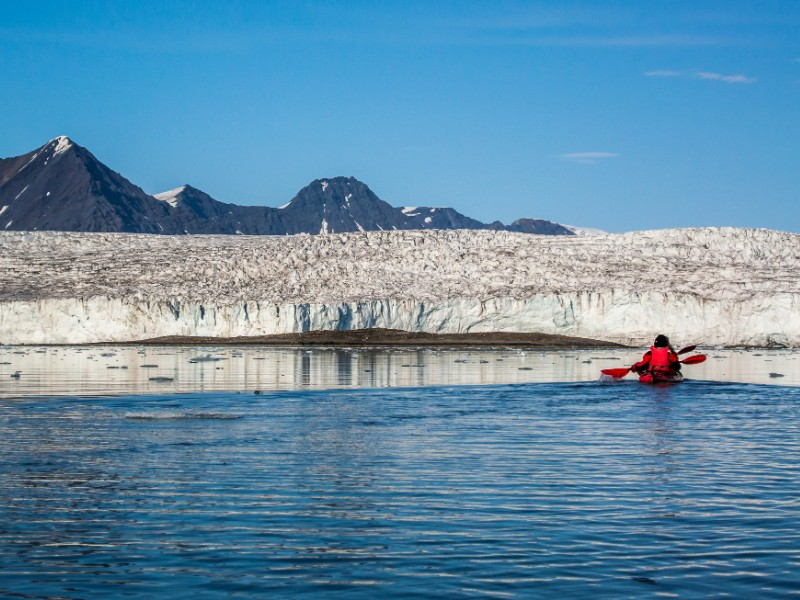 Kayaking near Longyearbyen, Norway