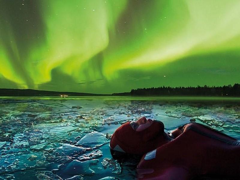 Aurora Ice Floating