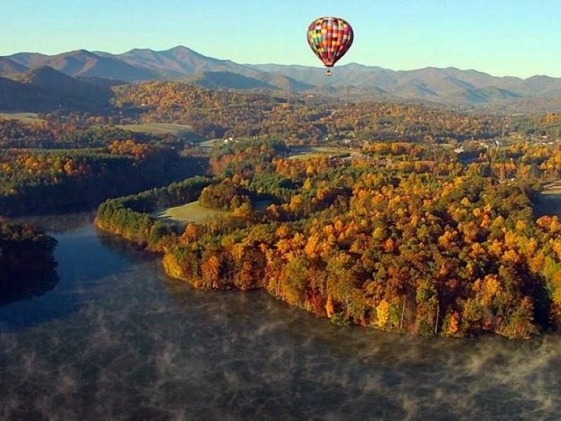 Hot Air Balloon Ride in the Blue Ridge Mountains, Asheville, North Carolina