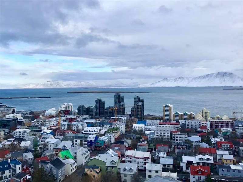 Overlooking Reykjavik from Hallgrimskirkja Church