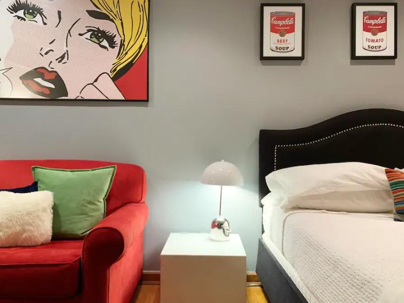 Stylish Pop-Art studio on trendy UWS