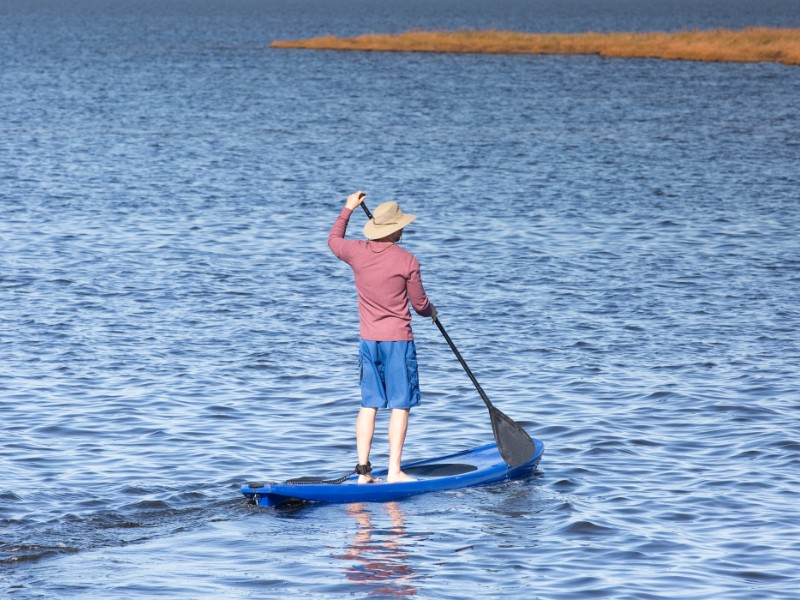 Paddleboarding in the Outer Banks, North Carolina