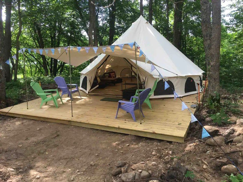 Outside The Off-Grid Oasis Tent #2