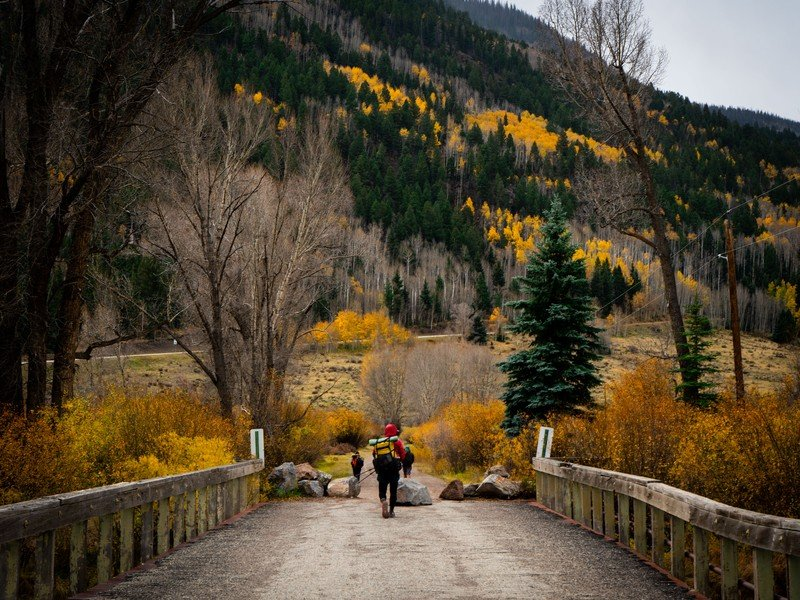 Captures the Fall Colors in Colorado while hiking the Continental Divide Trail