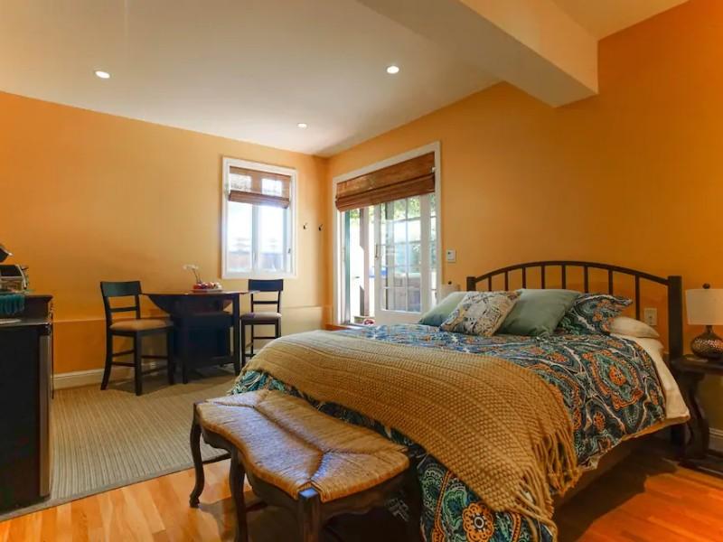 Bedroom at Cozy Garden Studio
