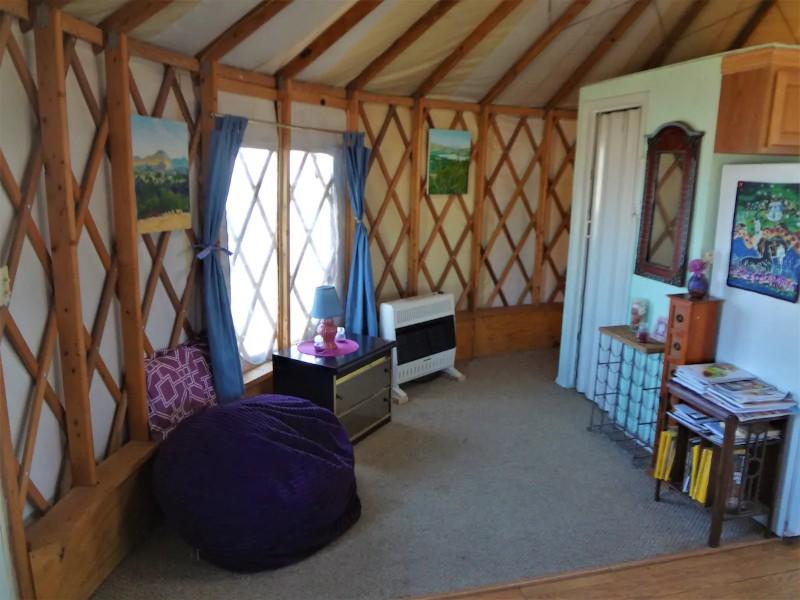Inside Enchanted yurt