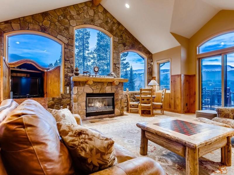 Fireplace and Views Moosehead Lodge Home Breckenridge