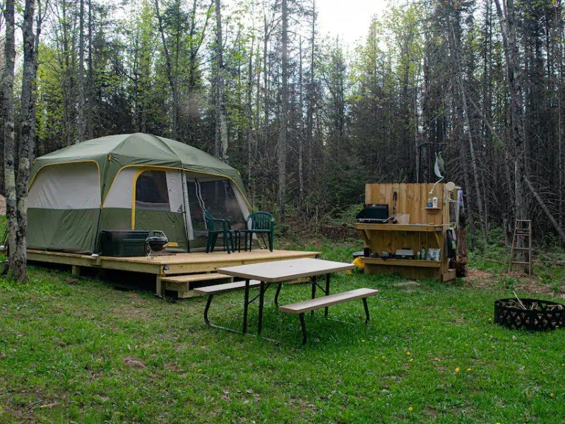 Campsite at Glamping - A Social Distancing Paradise