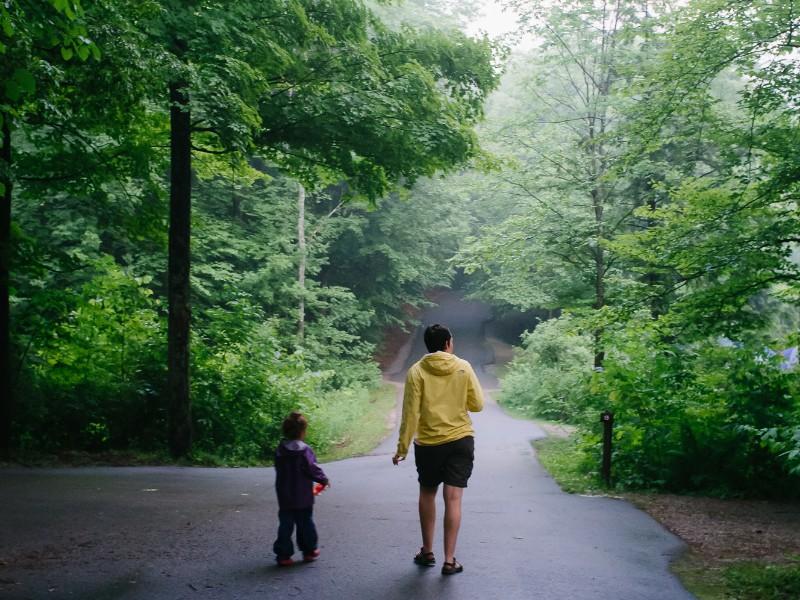 Walk in Half Moon Pond State Park