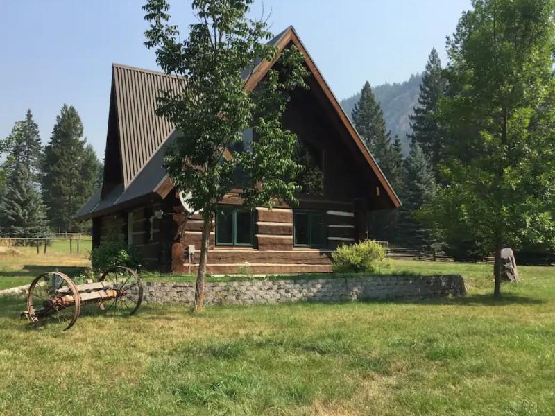 Hand Hewed Log Cabin, Missoula, Montana