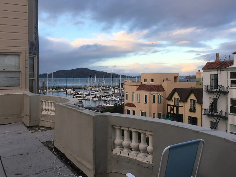View from Marina District Private Rooftop Studio with Deck