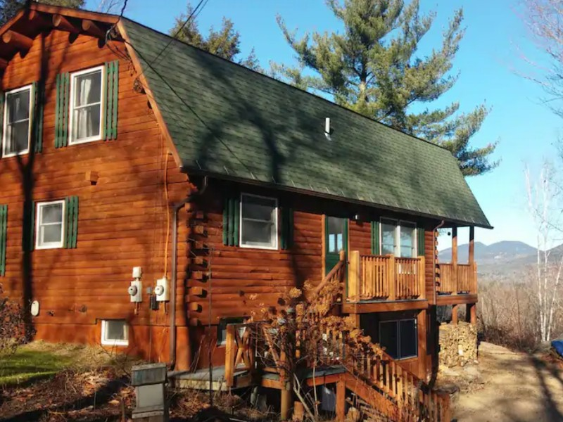Mountain Views from Log Cabin Dream, Bartlett, New Hampshire