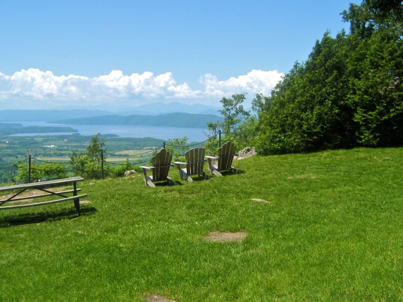 Peaceful view at Mt. Philo State Park