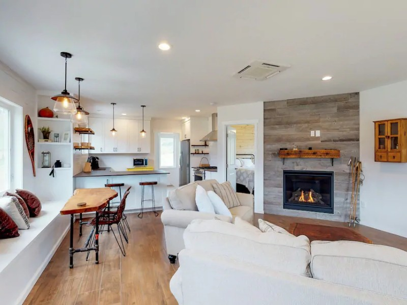 Living space at Newly Built, Dog-Friendly Cabin