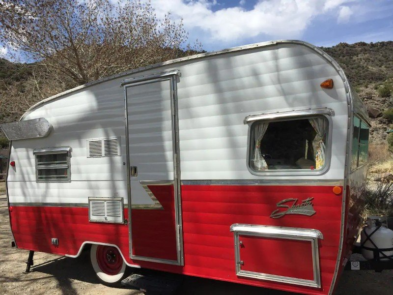 Retro camper set up and ready!