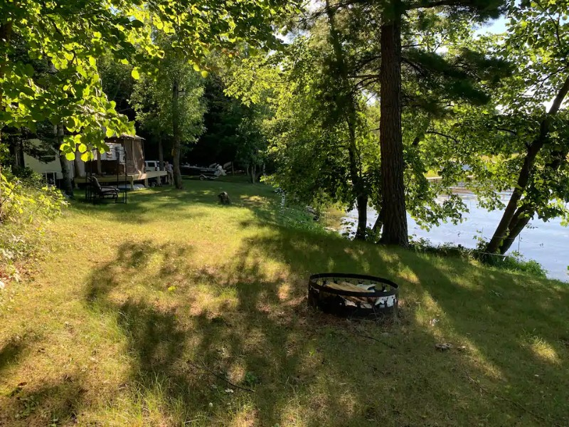 Campsite at Secluded Beautiful Camping Right on the Lake