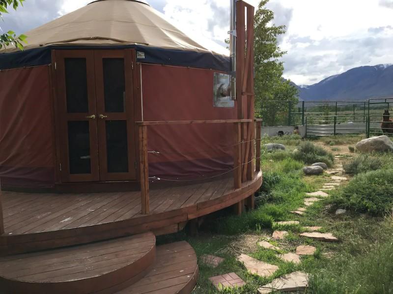 Side of Sun and Moon Yurt
