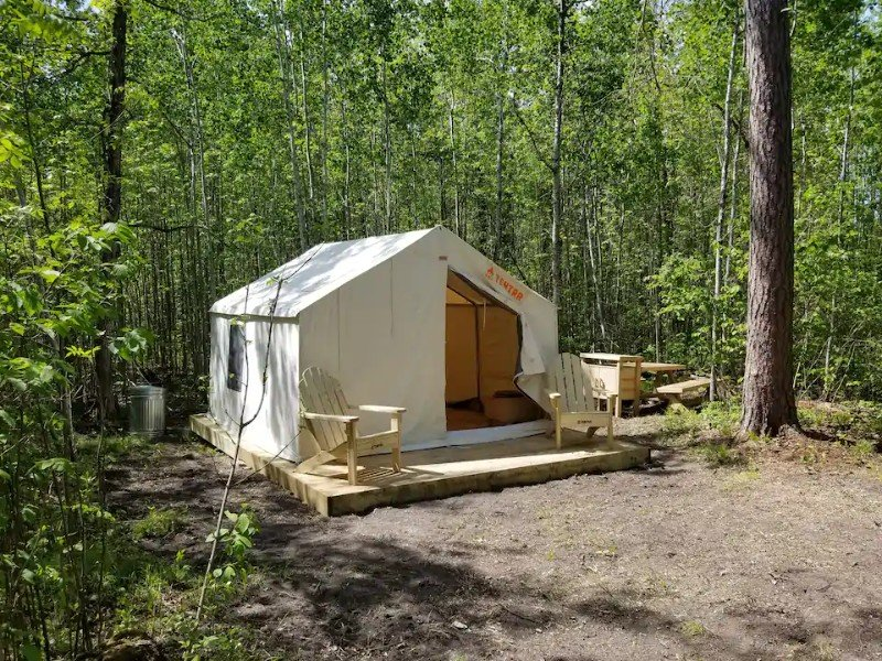 Campsite at Tentrr Signature Site - Loon Site at Evergreen Bay Resort