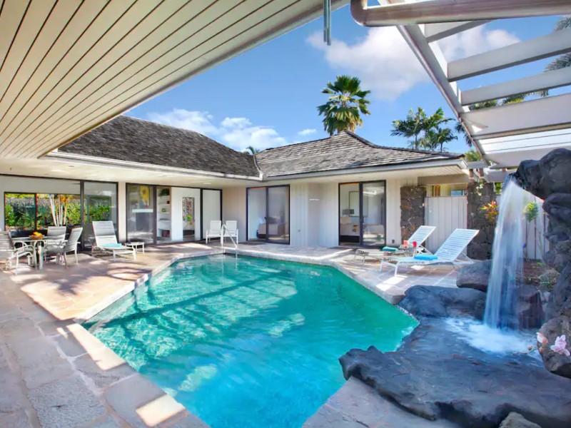 The Hawaiian Waterfall House, Kauai