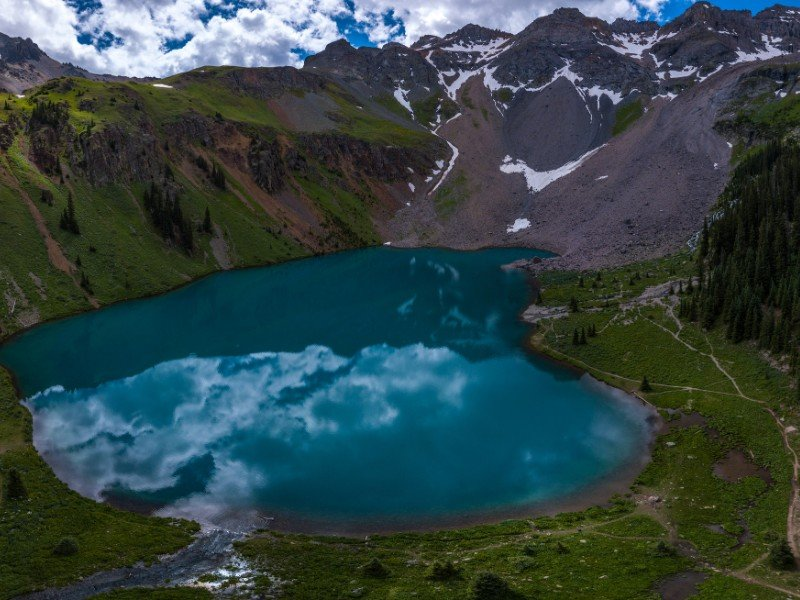 Blue Lakes area in the Mt. Sneffels Wilderness area of the Uncompahgre National Forest, Colorado
