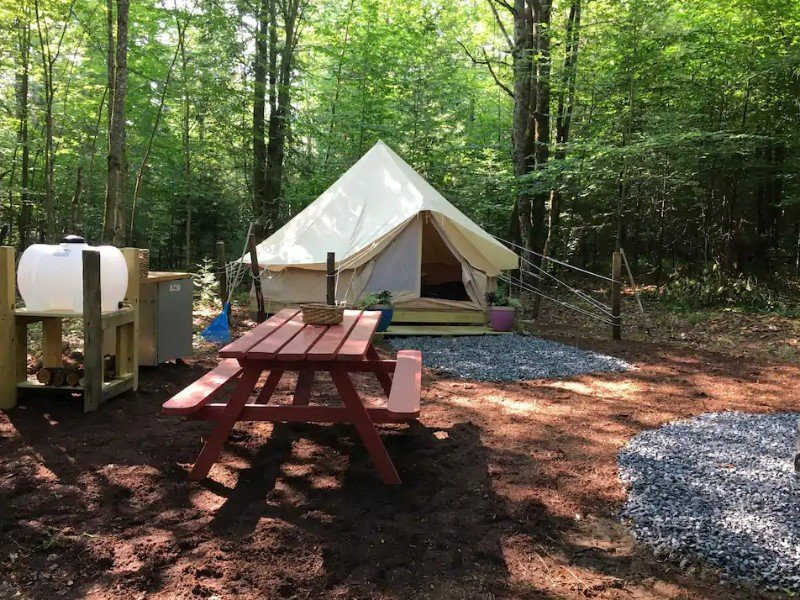 Site at Charming Bell Tent