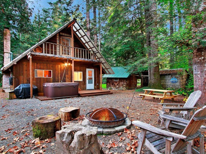 Charming Cabin with Hot Tub