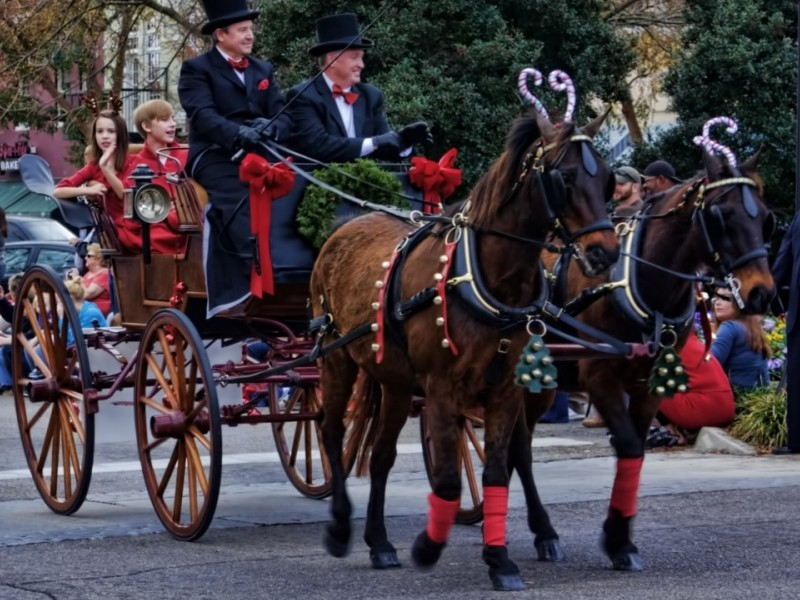 Christmas Carriage Ride in Aiken, South Carolina