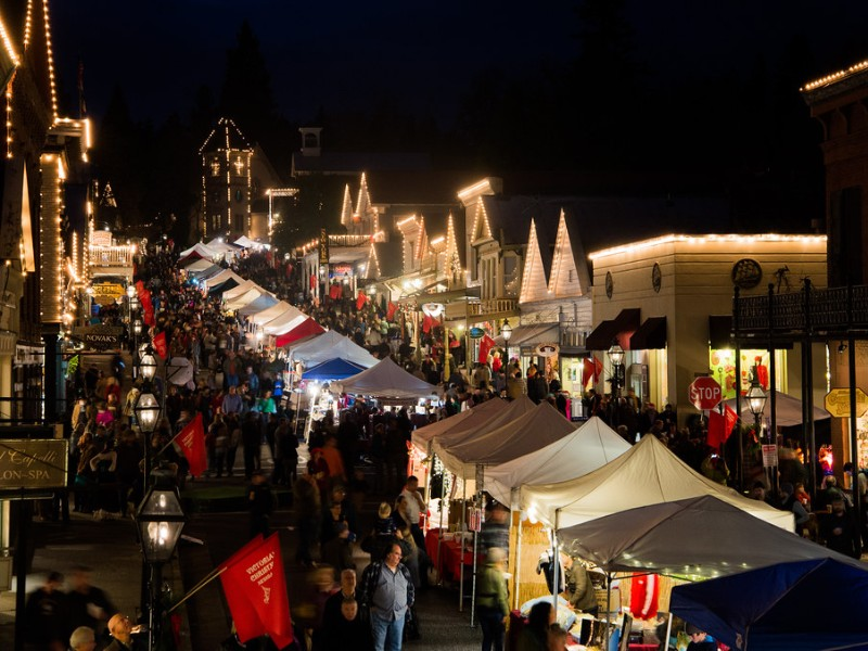 Christmas in Nevada City, California