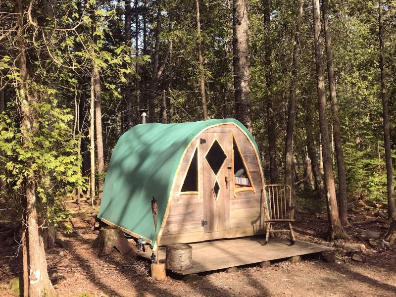 Exterior of Coyote's Den at The Howling Woods