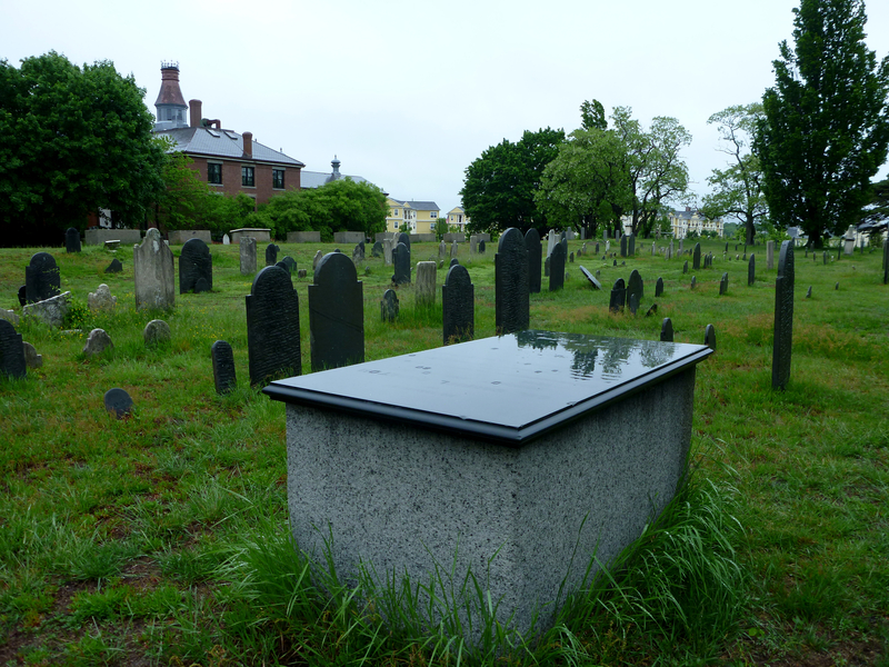 Historic Graveyard, The Burying Point, has been used since 1637