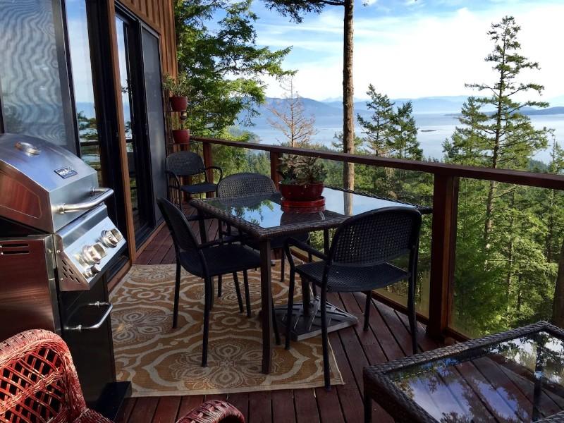 Hilltop Cedar Home with Ocean Views