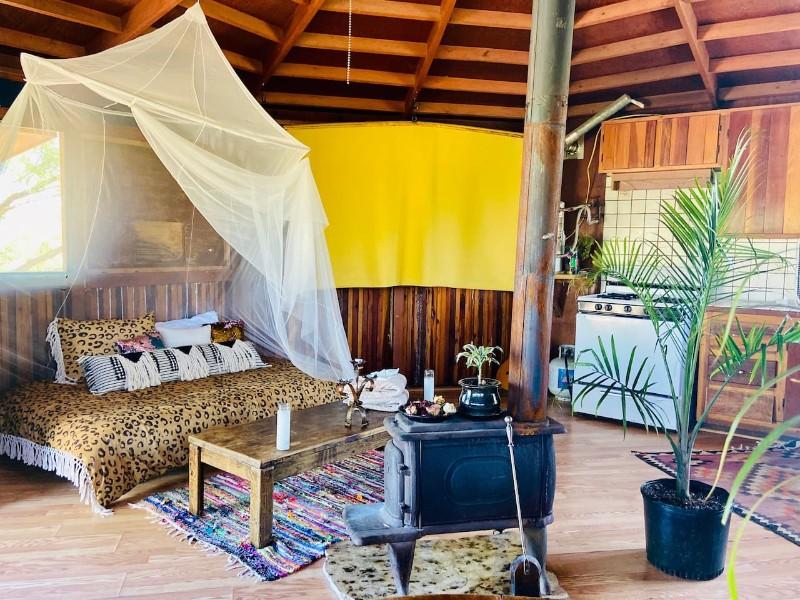 Decor in Peaceful Yurt on Hippie Soil