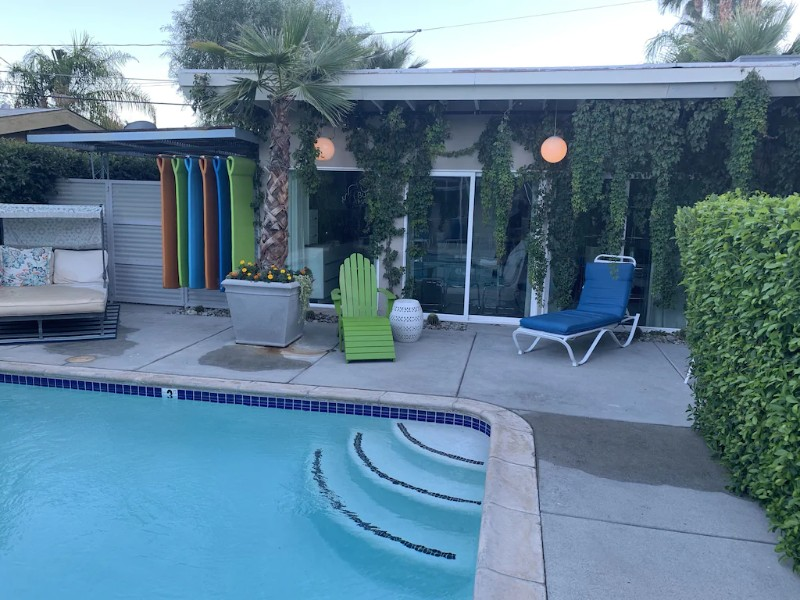 Pool at Romantic Cottage in Downtown Palm Springs