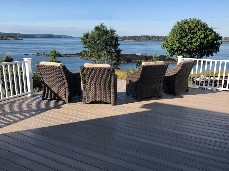 Watch the whales from your deck, Eastport, Maine