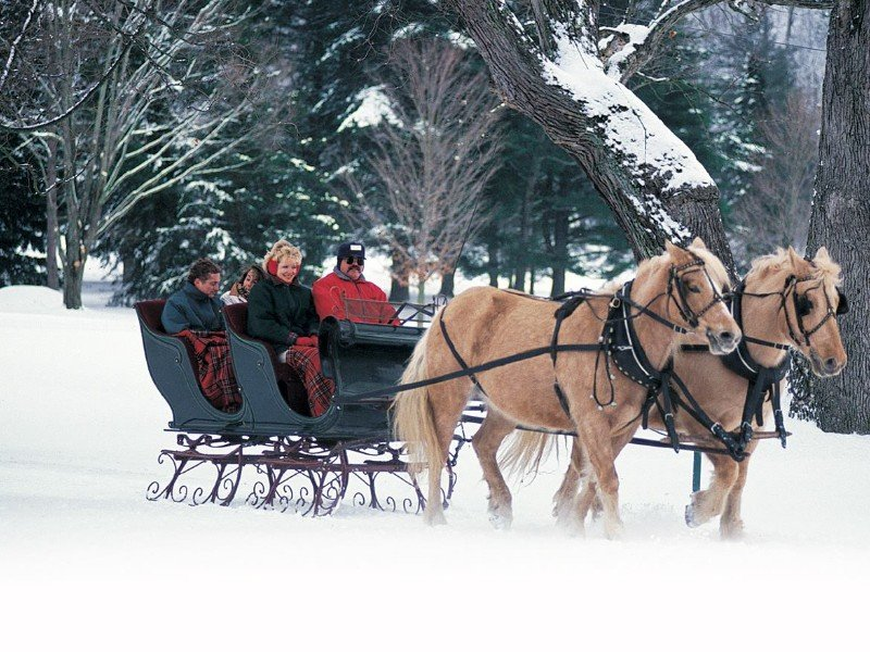 Sleigh ride at The Greenbrier, White Sulphur Springs