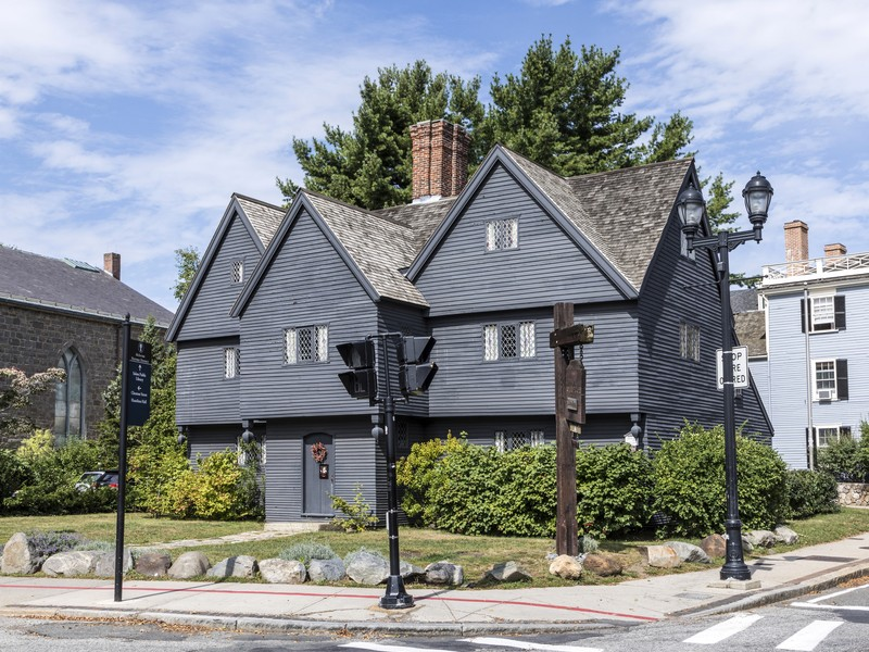 Grey Witch House in Salem, Massachusetts