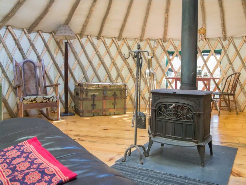 Yurt in the Woods, Chatham, New Hampshire