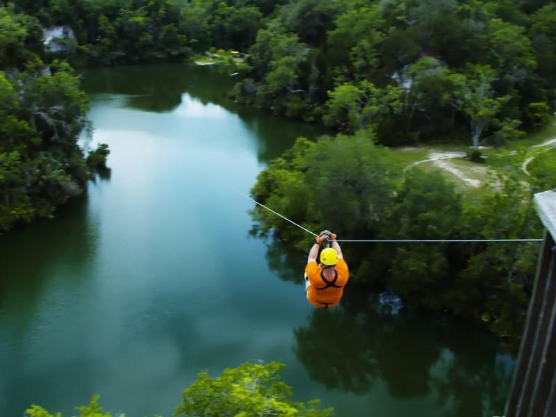Zipline tour at Zip the Canyons, Ocala, Florida