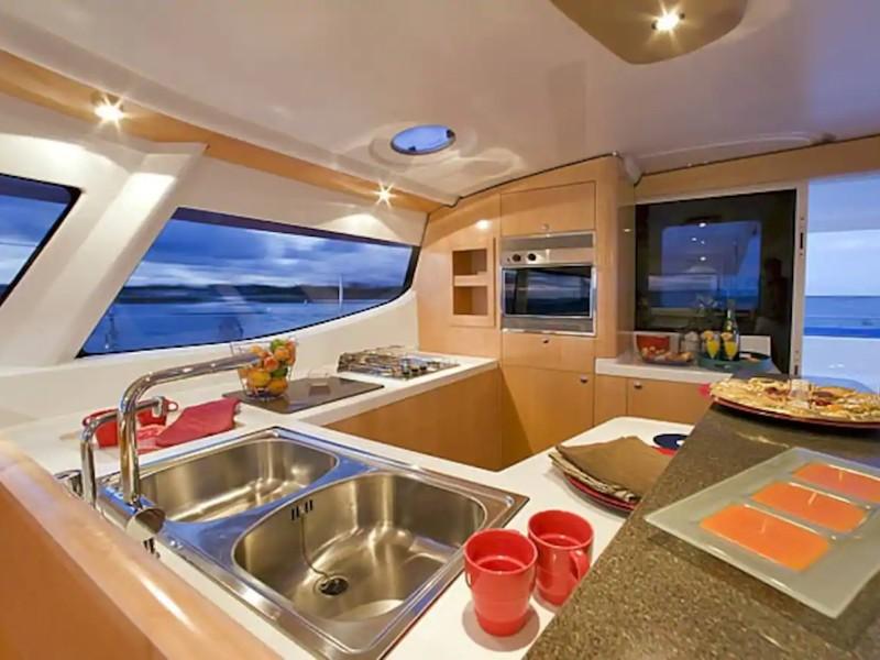 Kitchen at 48-Foot Yacht