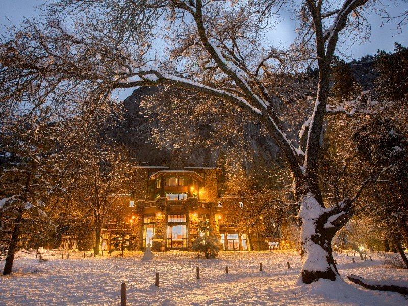 Ahwahnee Hotel in the winter, Yosemite National Park