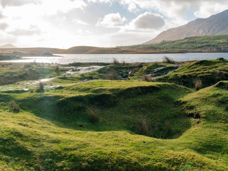 Beautiful nature scene around Connemara National Park.