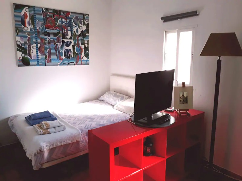 Bedroom at Central Study Loft in Embajadores