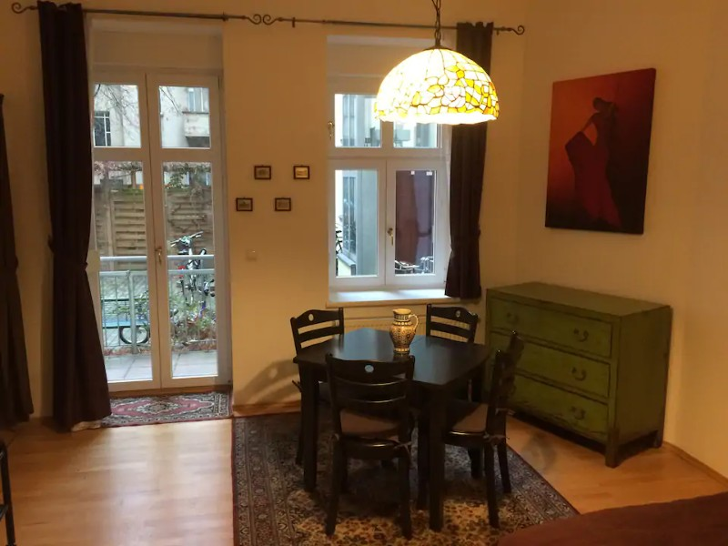 Seating at Charming Studio Apartment in Heart of Prenzlauer Berg