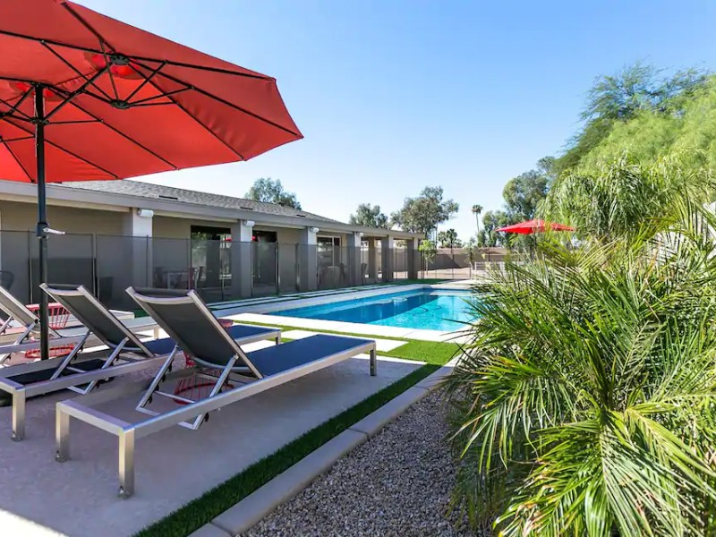 Pool at Clean Top-Rated Retreat