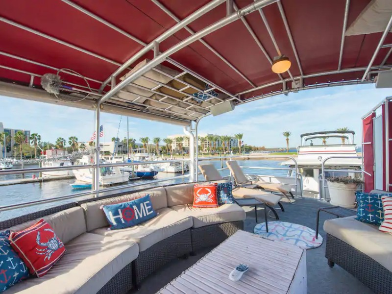 Looking out from Houseboat with 60 Feet of Fun