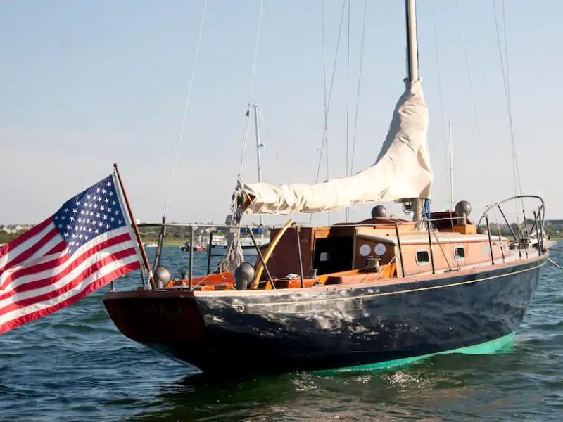 At sail - Nantucket Island on Classic Yacht
