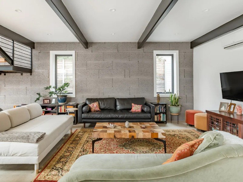 Living space at Salute the Sun from an Eco-Friendly Loft Home