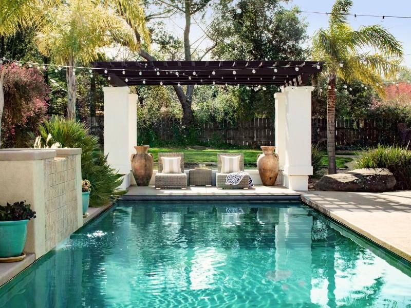 Pool at Wine Country Boho Villa