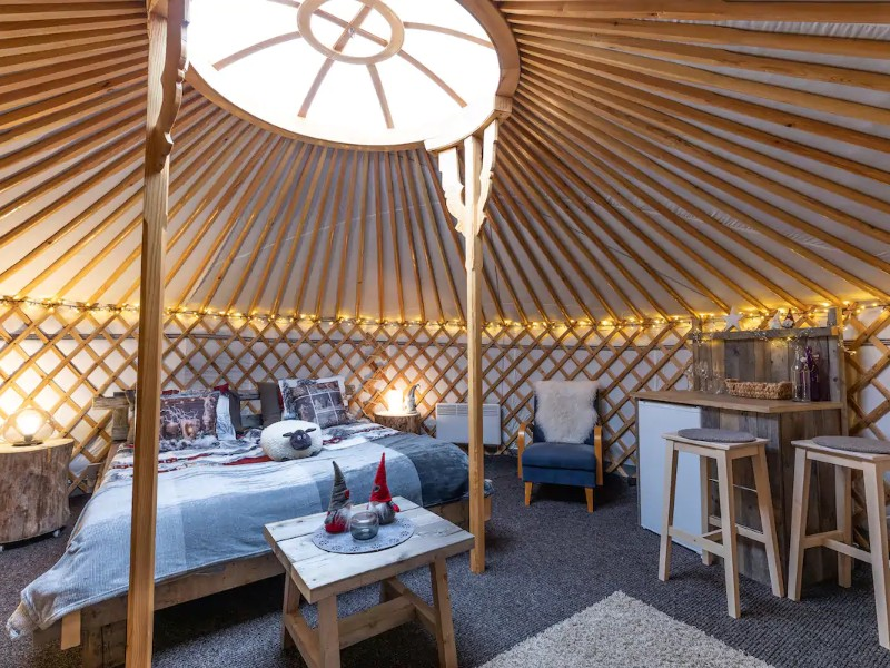 Yurt with River Views