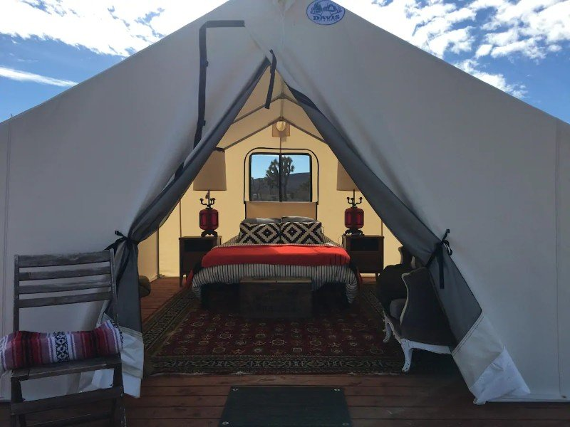 Entrance of Glamping Tent at Lazy Sky